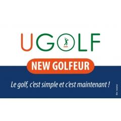 NEW GOLFEUR - <p><strong>Débuter le golf avec facilité et souplesse grâce aux cours illimités !</strong></p> <p></p> <p>Comment jouer?</p> <p>Résider dans l'un des départements : 75/77/78/91/92/93/94/95/60</p> <p></p> <p>La carte NEW GOLFEUR, valable 1 an de date à date</p> <p><strong>FORFAIT INDIVIDUEL :</strong></p> <p>299€ + 49€ sur 11 mois</p> <p></p> <p><strong>FORFAIT COUPLE :</strong></p> <p>349€ + 89€ sur 11 mois</p> <p></p> <p><strong>Contenu du forfait :</strong></p> <p>- cours collectifs illimités pendant 1 an</p> <p>- accès au parcours (après validation de votre pro)</p> <p>- 1 carte practise de 10 seaux</p> <p>- 1 première licence ffgolf</p> <p>- prêt du matériel</p> <p>- passage de la carte verte</p> <p>- animation de la communauté NEW GOLFEUR : compétitions de classement, dîners, stages/voyages...</p> <p></p> <p>Conditions:</p> <p>Ne pas avoir été abonné UGOLF dans les 12 derniers mois.</p> <p></p> <p><strong>Profitez de l'offre spéciale salon -30% sur l'adhésion !</strong></p>
