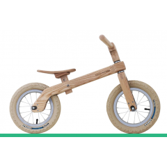 Vélo en bois enfant à partir de 2 ans - Excellent vélo d'équilibre pour enfants à partir de 2 ans. Spécialement conçu pour l'aider à trouver l'équilibre dont il aura besoin plus tard. Il ne pèse que 3 kg et dispose d'une selle réglable pour accompagner votre enfant dans sa croissance. Avec roue de 12 pouces Cadre en bois massif frêne blanc