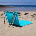 V-Transat, le transat nomade 100 % français - <p>Une belle toile de transat + une architecture en bois de frêne = un transatpour une pause lecture confortable, à la plage, au parc, au bord d'une piscine.</p> <p>Enroulé, il se porte aisément sur l'épaule en laisant les mains libres.</p> <p>En +, il est 100% fabriqué en France.</p>