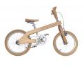 Vélo en bois enfant - Cette version est idéale pour les premières promenades de votre enfant. Avec Roue de 16 pouces  Poids 12 kg Cadre en bois massif frêne blanc Frein arrière > Frein à rétropédalage (type adverse) Changement de vitesse > Simple vitesse