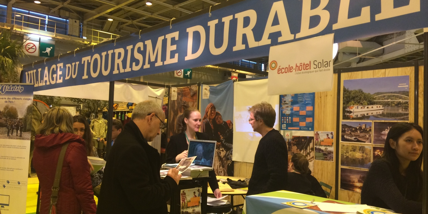 Village du Tourisme durable sur le salon Destinations Nature